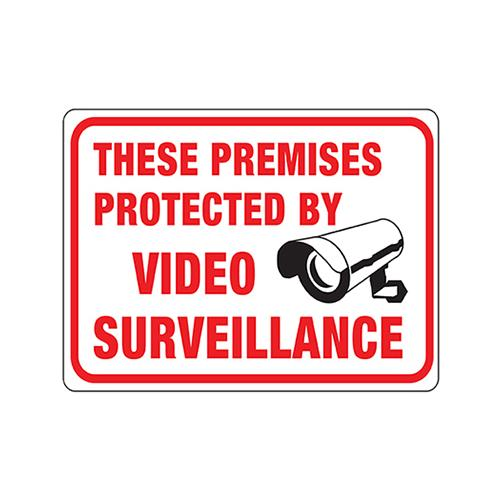 Hy-Ko Prod 20619 Video Surveillance Sign, 8.5 x 12-In. - Quantity 10