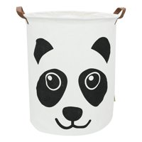 Large Sized Canvas Storage Baskets with Handle, Collapsible & Convenient Home Organizer Containers for Kids Toys