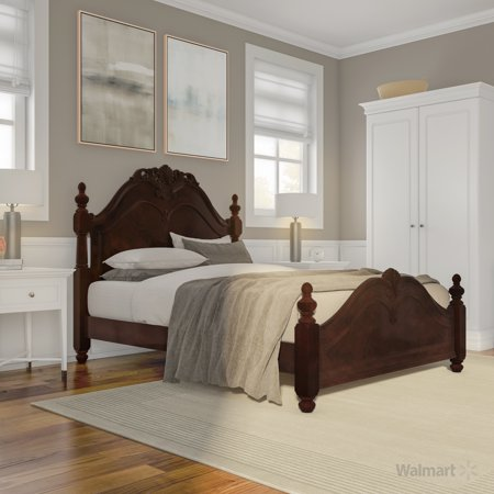 Furniture of America Leonora Traditional Queen Bed, Cherry ()