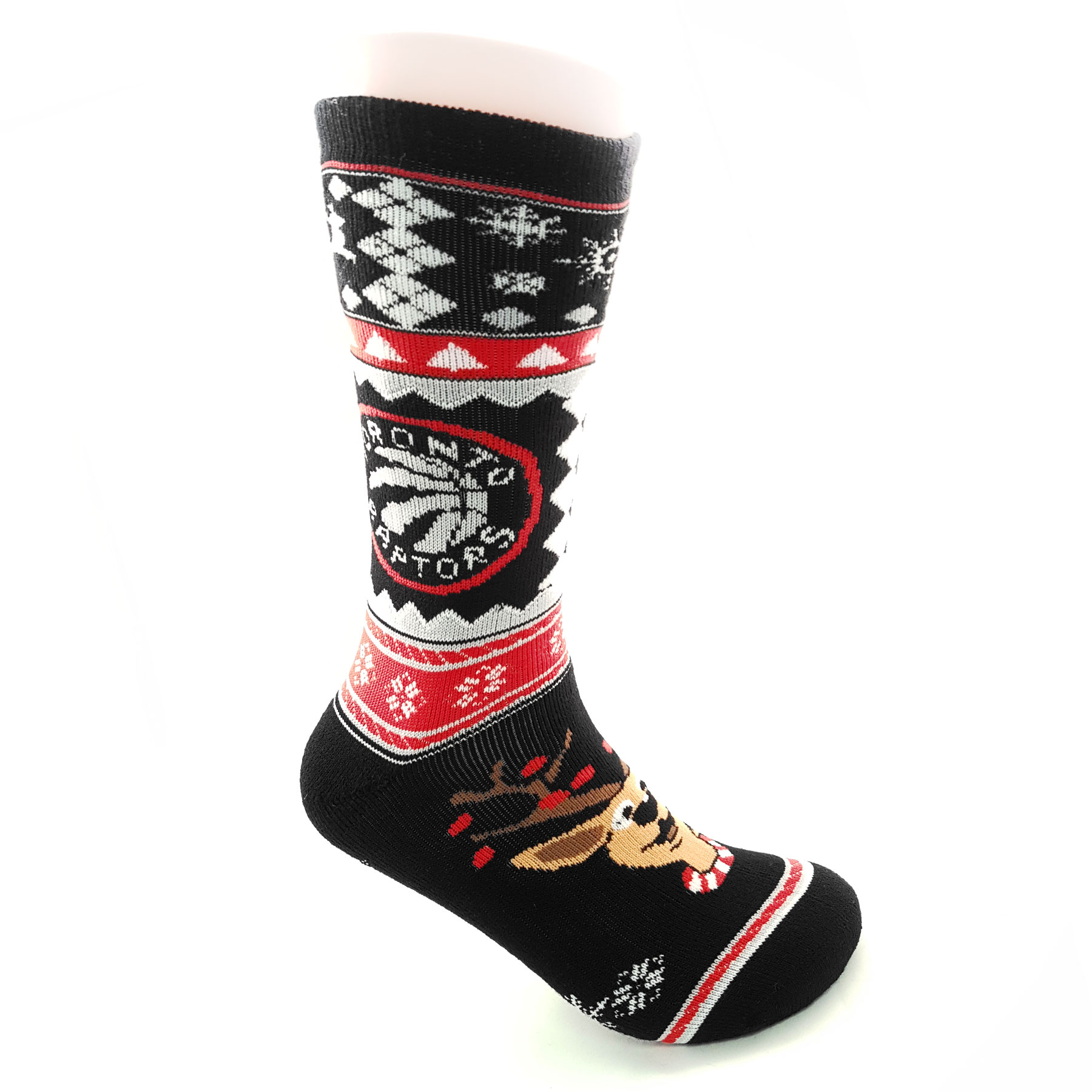 Toronto Raptors NBA Holiday Knit Crew Socks