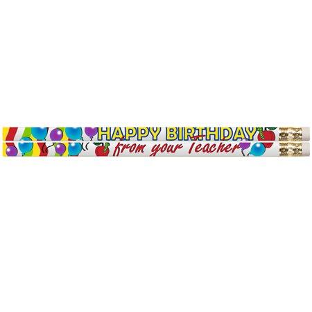 HAPPY BIRTHDAY FROM YOUR TEACHER DZ MOTIVATIONAL FUN PENCILS