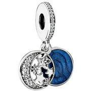 Pandora Vintage Night Sky Silver & Blue Dangle Charm 791993CZ
