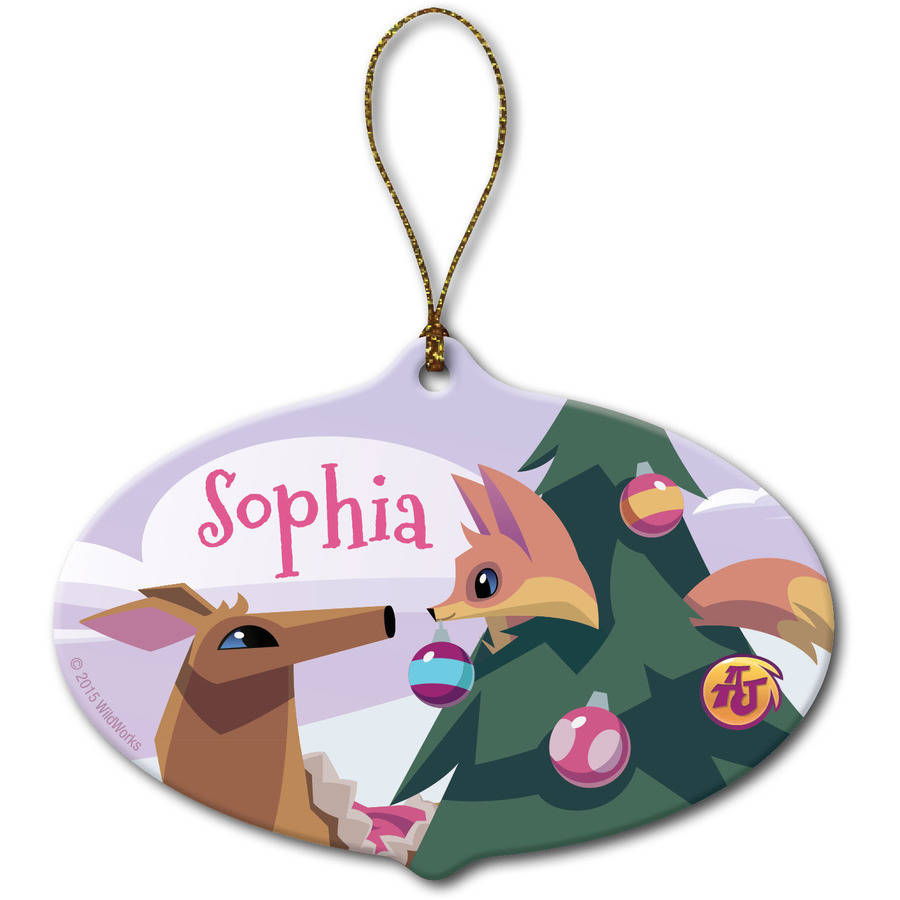 Personalized Animal Jam Christmas Ornament