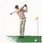 Thea Gouverneur Counted Cross-Stitch Kit, Golf