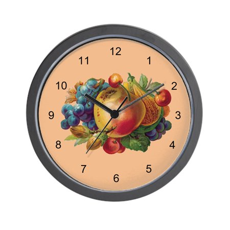 "CafePress - FRUIT BUNCH- - Unique Decorative 10"" Wall Clock"