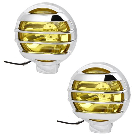 55W H3 Universal Round Halogen Fog Light Bulb Lamp Amber 2 Pcs for Car