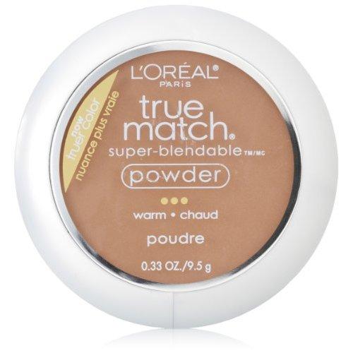 L'Oreal Paris True Match Powder, Creme Cafe, 0.33 Ounces