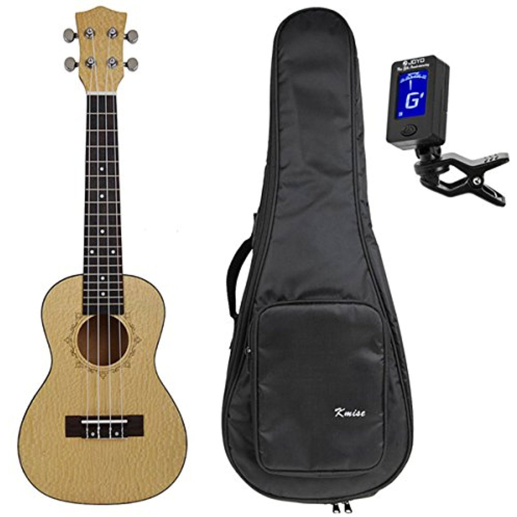 Kmise Professional 23 Inch Concert Ukulele Uke Hawaii Guitar Pearl Wood 18 Fret W Bag and... by Kmise