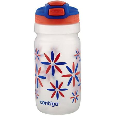 Contigo 18 Oz. Pink Tango Flower Power Kids Squeeze AUTOSPOUT Water Bottle Flower Snuff Bottle