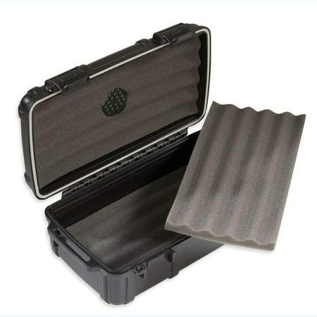 Herf-a-Dor Travel Humidor 10 Cigar Capacity - Durable, Airtight, Crushproof Travel Humidor Cigars Outdoor Travel Humidor