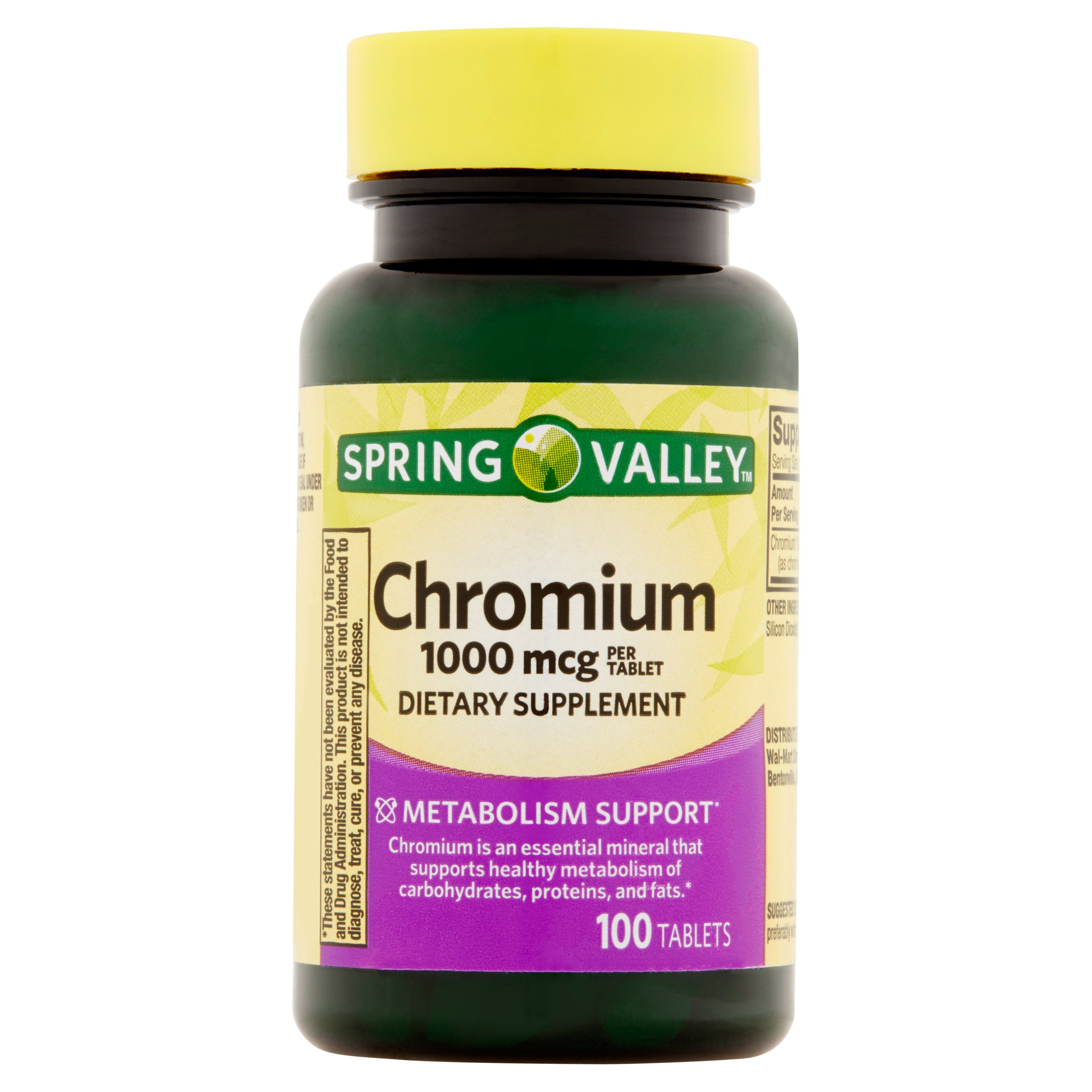 Spring Valley Chromium Tablets, 1000 mcg, 100 Ct