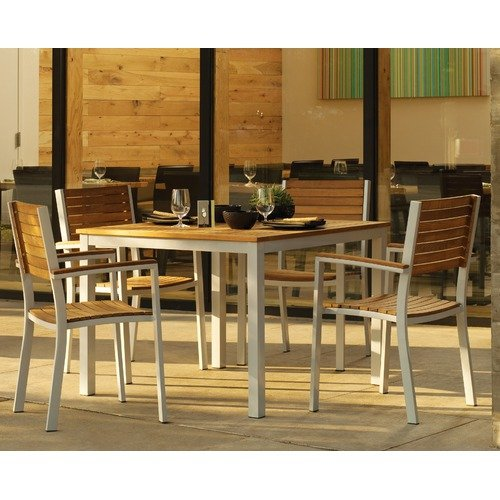 Oxford Garden Travira Teak 5 Piece Dining Set