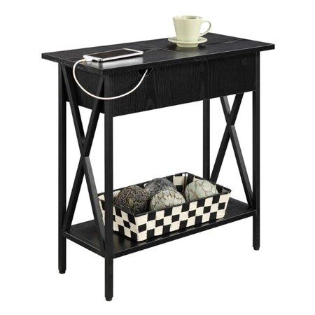 Kingfisher Lane Electric Flip Top Table in Black