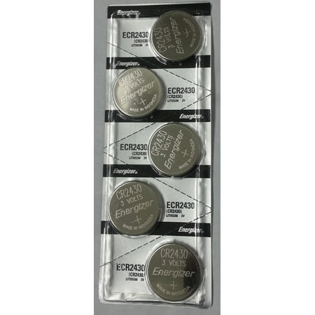 Energizer CR2430 3V Lithium Coin Battery 5 Pack + FREE SHIPPING