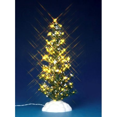 Lemax 44787 LIGHTED PINE TREE LARGE Christmas Village Landscape Accessory S O Scale ()
