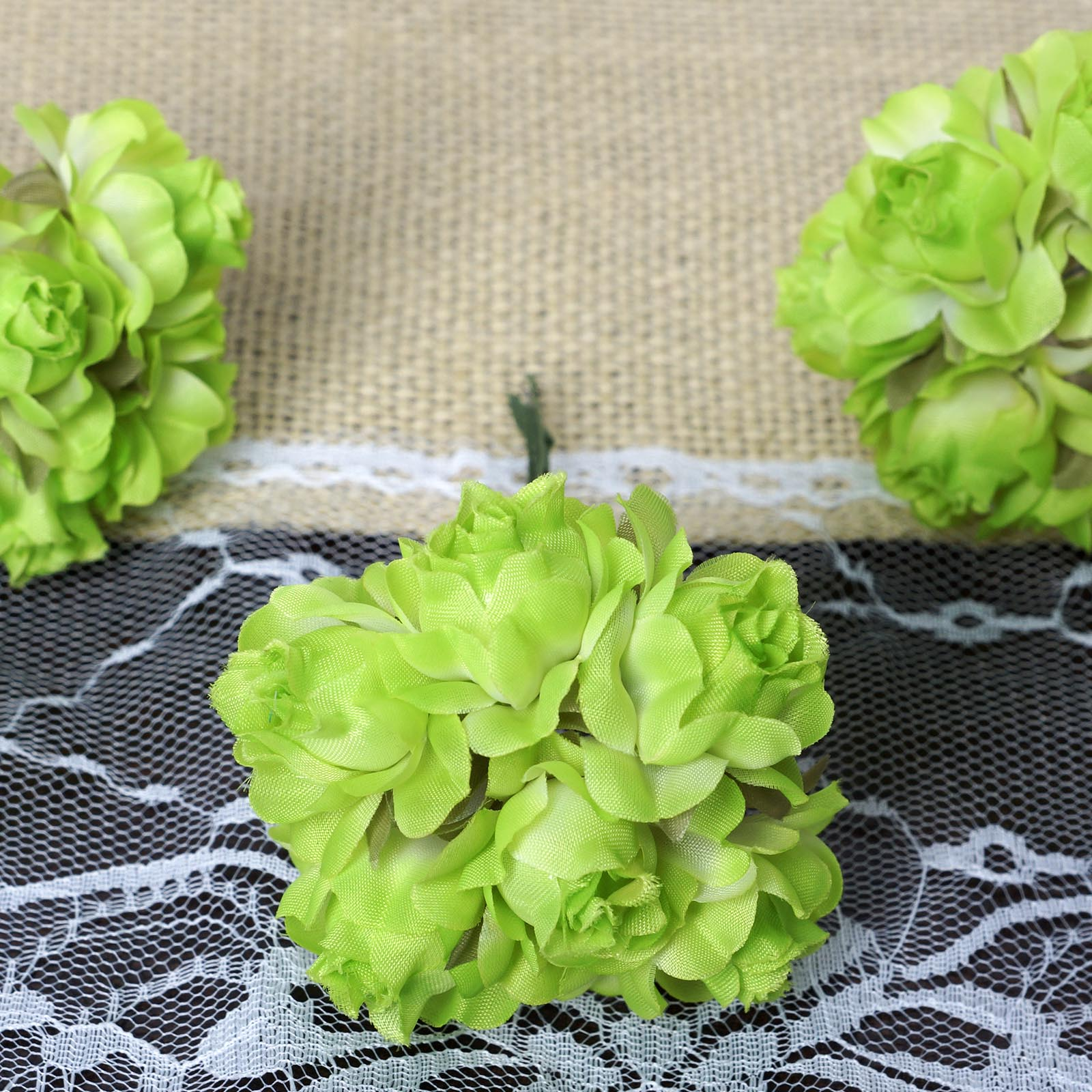 BalsaCircle 72 Semi Bloomed Craft Roses - Mini Flowers for DIY Wedding Party Favors Decorations Supplies