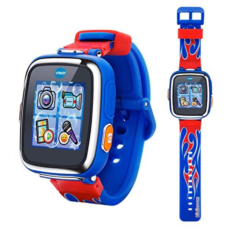 VTech Kidizoom Smartwatch DX Special Edition Red Flame with Bonus Royal Blue Wristband by