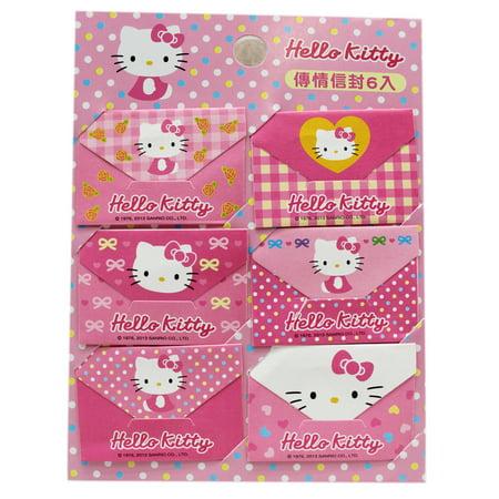 Hello Kitty Assorted Pattern Design Mini Envelope Note Kit (6 Notes)