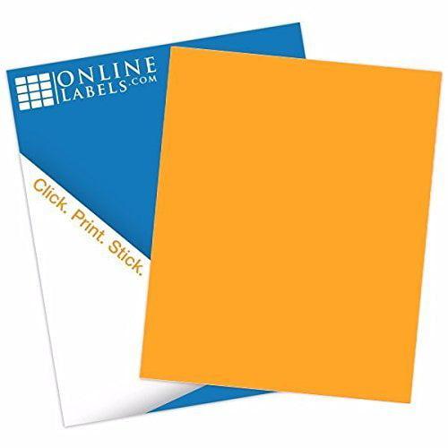 Fluorescent Orange Sticker Paper
