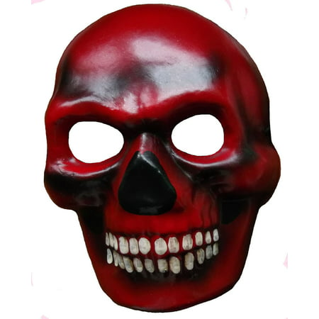 Halloween Red Skull Mask (Dia de los Muertos Devil Skull Venetian Day of the Dead Masquerade Mask)