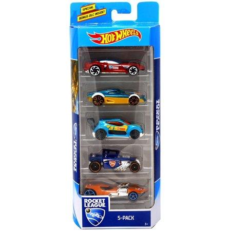 Rocket League Hot Wheels Gazella GT, MR11, Fast 4wd, Bone Shaker & Twin Mill III Diecast Car -