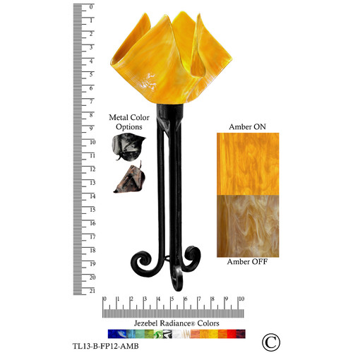 Jezebel Gallery Radiance Torch 20'' H Table Lamp with Novelty Shade