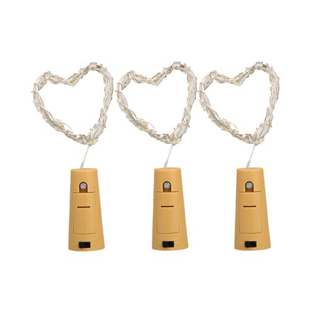 TSV Pack of 3 Sets Wine Bottle Cork Lights, ATTAV Warm White LED Cork Shaped Starry String Lights - 20LED 76.8in/195cm Copper Wire Fairy Lights for Bottle DIY, Party, Christmas, Wedding, Dancing (Lights For A Party)