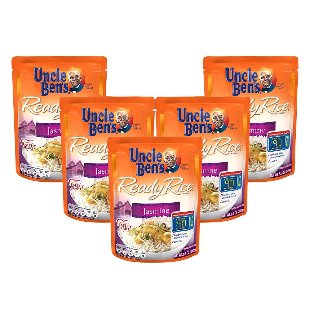 (5 Pack) UNCLE BEN'S Ready Rice: Jasmine, 8.5oz