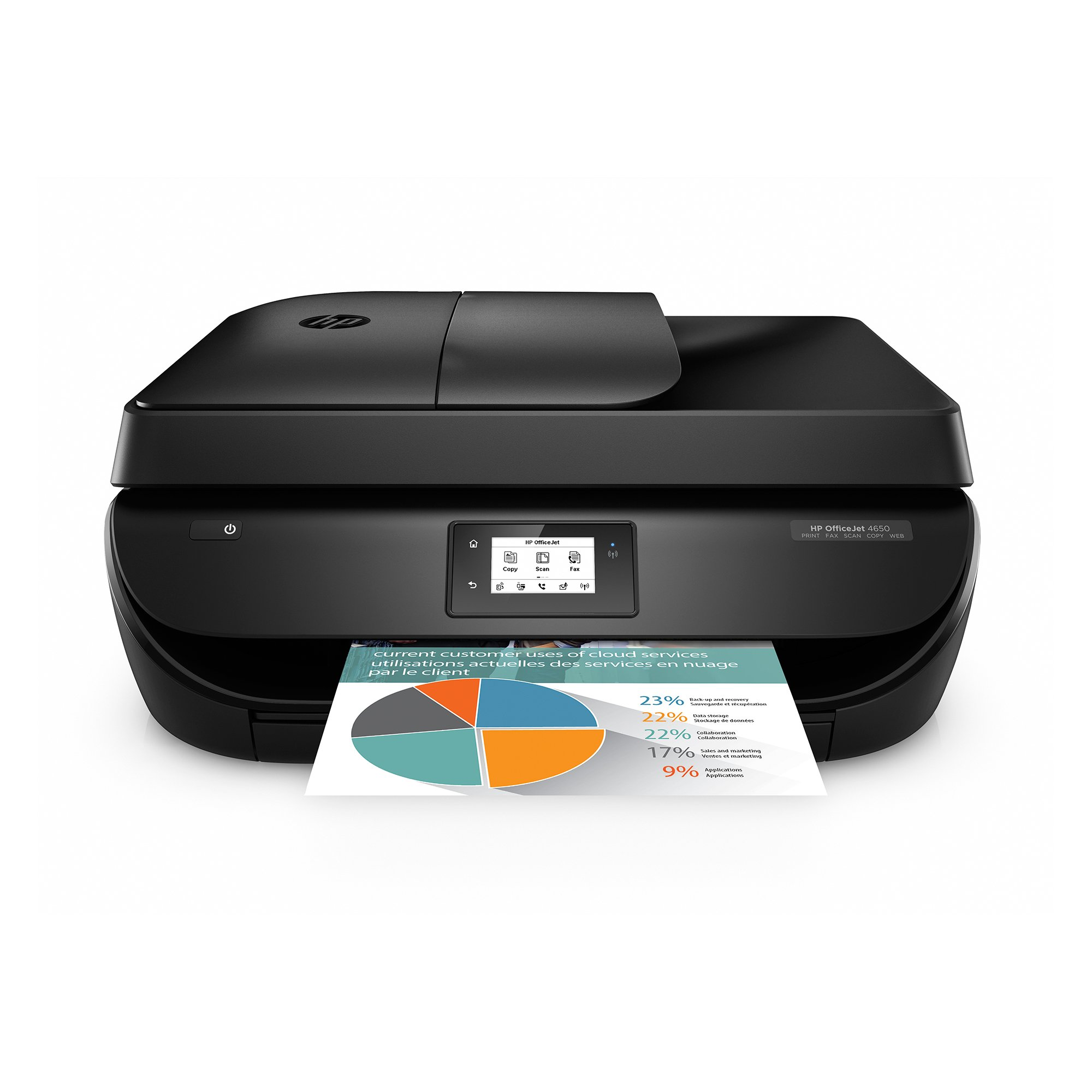 HP OfficeJet 4650 Wireless All-in-One Photo Printer with Mobile Printing (Certified Refurbished) by HP