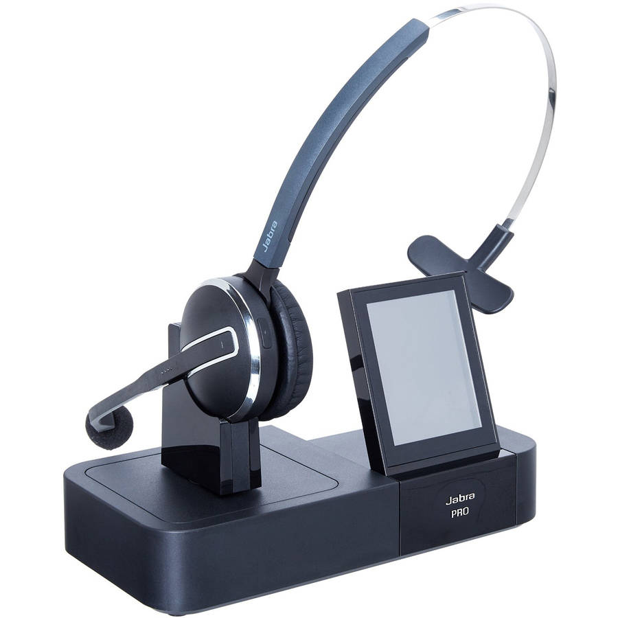Jabra PRO 9460 Mono Wireless Headset with Touchscreen for Desk Phone and Softphone