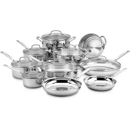 Cuisinart 17 Piece Stainless Steel Cookware Set