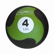 FitBALL 4 Pound Green Textured Rubber MedBall