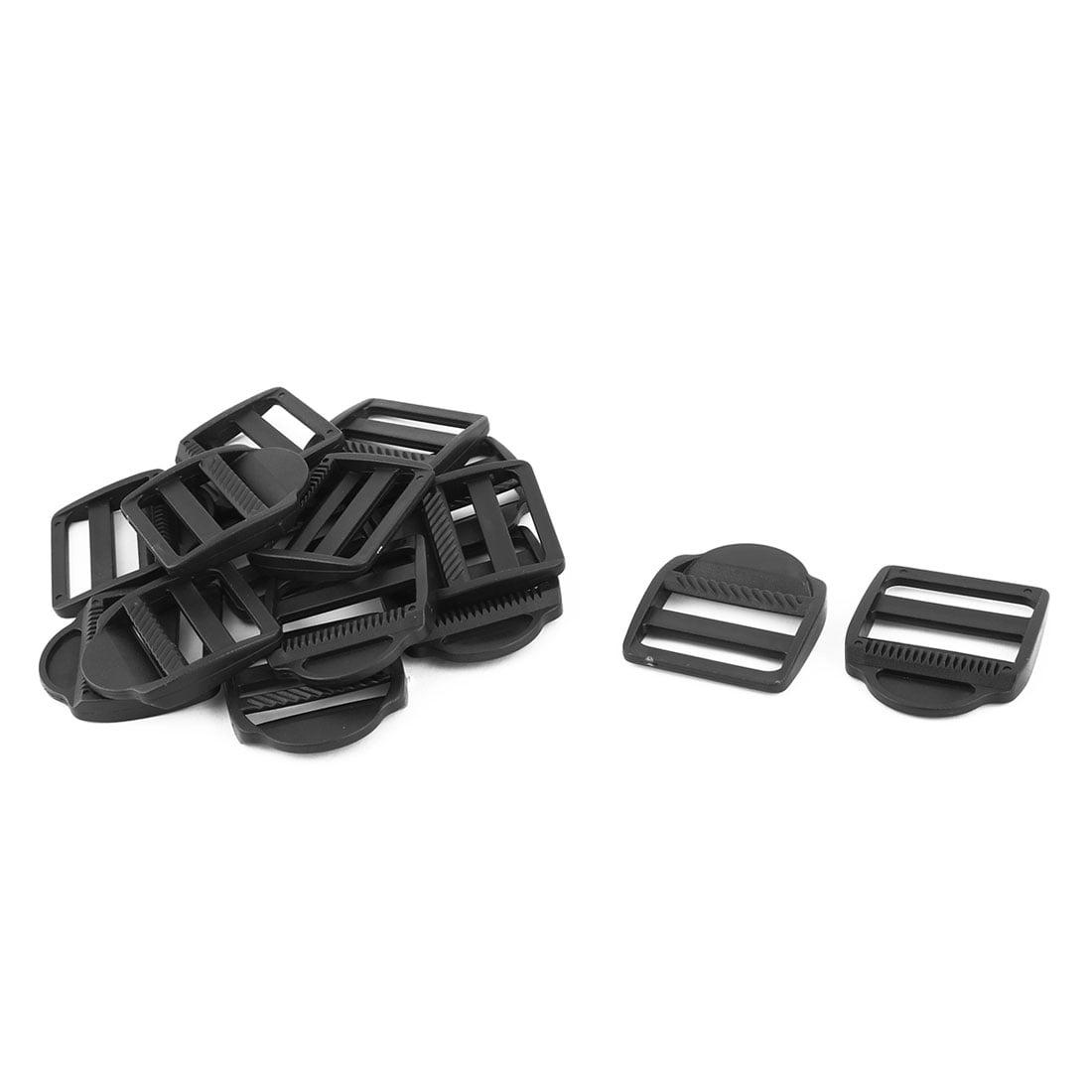 Suitcase Belt Webbing Connector Ladder Lock Buckle Black 38mm Strap Width 15pcs - image 3 of 3