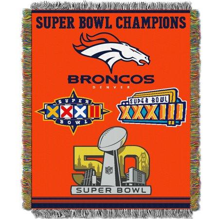 Denver Broncos The Northwest Company 48'' x 60'' Commemorative Woven Tapestry Throw - No - Denver Broncos Theme