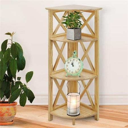 Montego 4-Shelf Corner Folding Bookcase, Natural ()