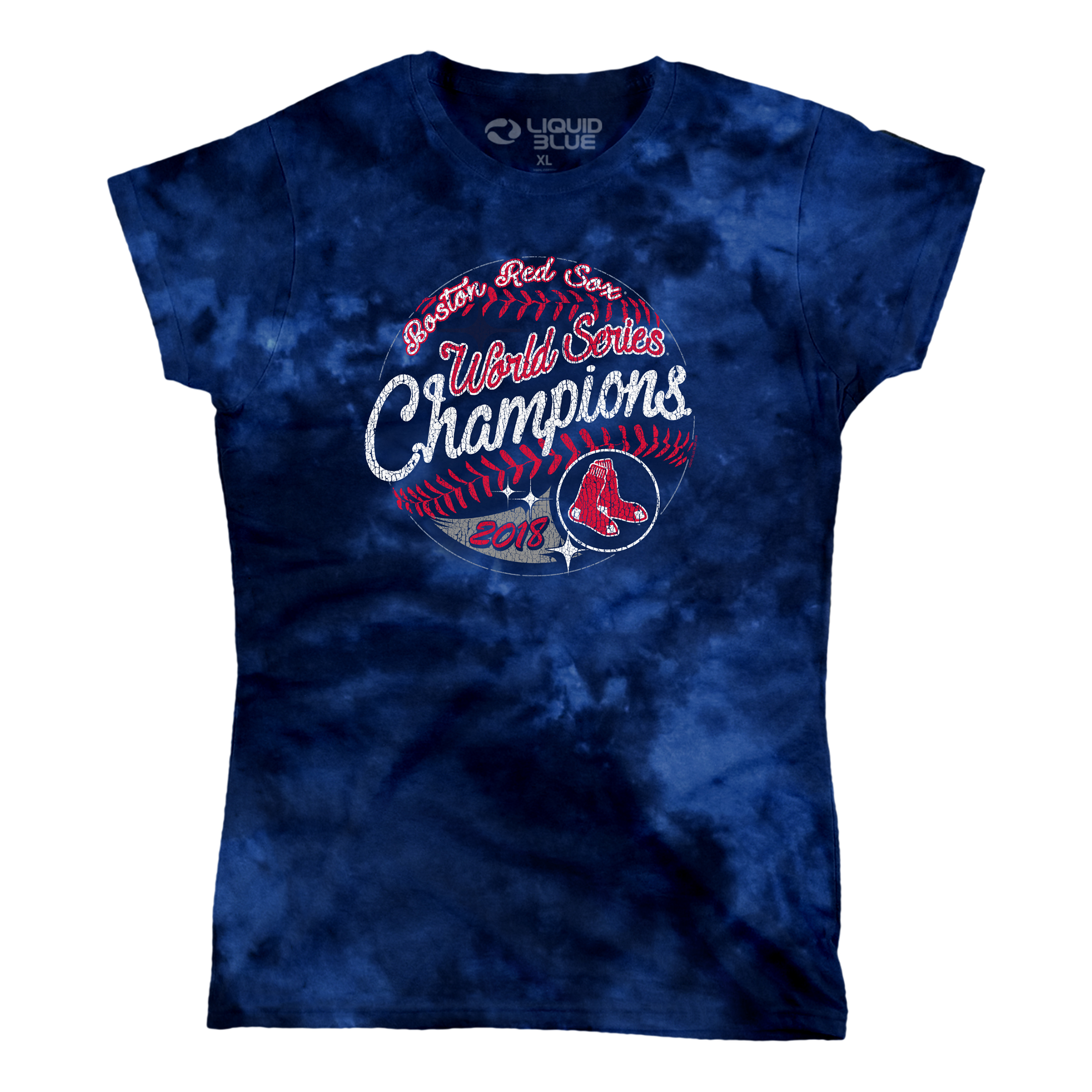 Boston Red Sox Women's 2018 World Series Champions Tie-Dye T-Shirt - Navy