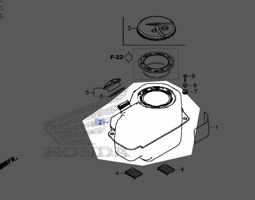 Honda 2015 2018 Pioneer Sxs Fuel Tank 17510 Hl5 A00 New Oem