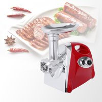 Heavy Duty Electric Meat Grinder and Sausage Stuffer Maker with Handle Home Commercial Use Food Meat Processor Machine Include 4 Cutting Plates Kitchen Tool UL Certificated-Red