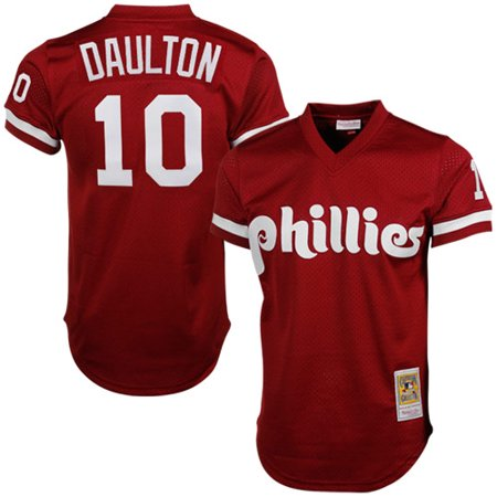 best loved f17df d93bb Darren Daulton Philadelphia Phillies Mitchell & Ness Cooperstown Mesh  Batting Practice Jersey - Red