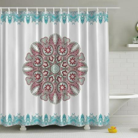 Ambesonne Paisley Mandala Print Shower Curtain