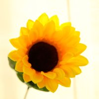 "BalsaCircle 70 pcs Yellow 21"" Tall Artificial Silk Sunflowers - 5 Bushes Wedding Party Event Home Flower Arrangement Decorations"