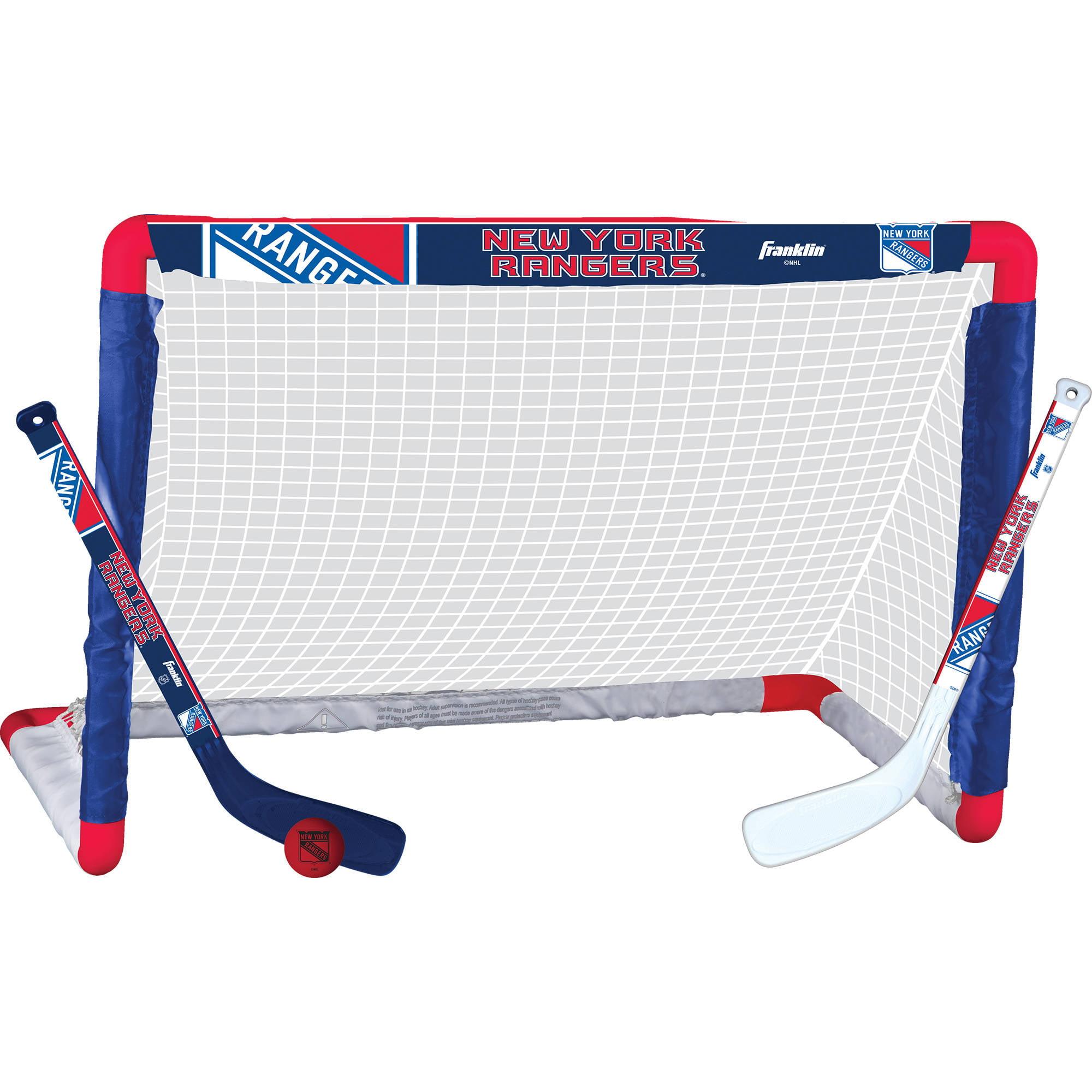Franklin Sports NHL New York Rangers Mini Hockey Set