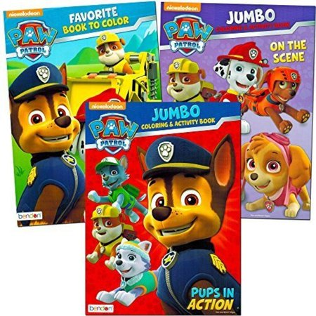 Paw Patrol Coloring and Activity Book Set (3 Coloring Books)