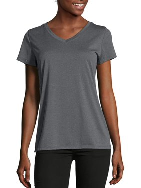 Hanes Sport Women's Heathered Performance V-Neck Tee
