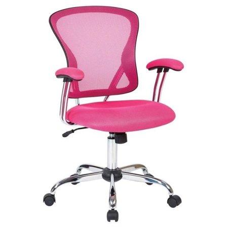 - Scranton & Co Mesh Back Office Chair in Pink