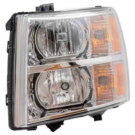 Chevrolet Lens (BROCK Headlight Headlamp Lens Driver Replacement for 07-13 Chevrolet Silverado Pickup Truck 22853027)