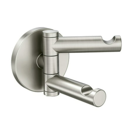 Moen Align Brushed Nickel Double Robe Hook