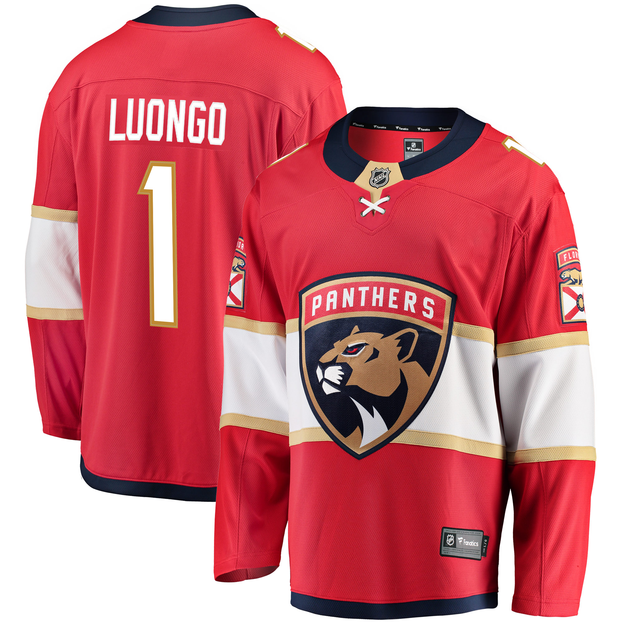 Roberto Luongo Florida Panthers Fanatics Branded Breakaway Jersey - Red