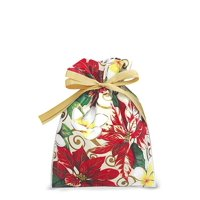 Hawaiian Drawstring Small Holiday Gift Bags 3 Pack Festive Plumeria