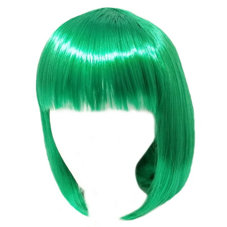 Green Costume Wigs (SeasonsTrading Economy Green Bob Wig - Adult Teen Costume Cosplay Party)